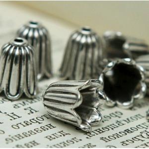Колпачок для бусин, античное серебро, 10x10 мм...