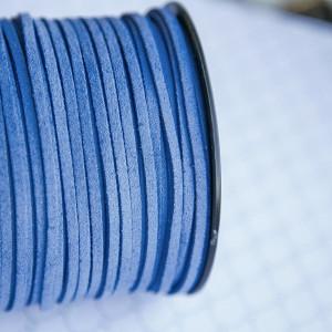 Шнур из искусственной замши, голубой, 3х1,5 мм...