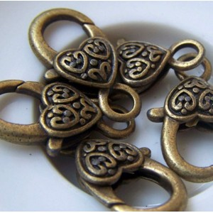 Замочек-лобстер, античная бронза, 25.5х14х6 мм...