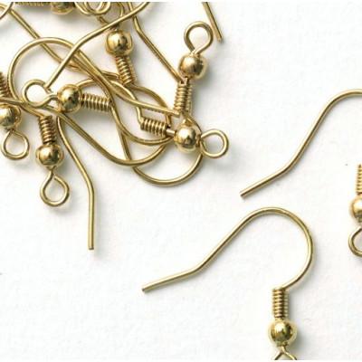 Швензы (основы для сережек), золото, 20х19 мм
