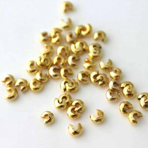 Покрывная бусина (для маскировки кримпа), золото (в уп ...