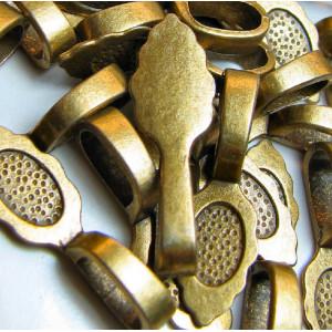 Бейл с платформой для кабошона, античная бронза, 26х8х7...