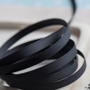 Репсовая лента, черный, ширина 6 мм...