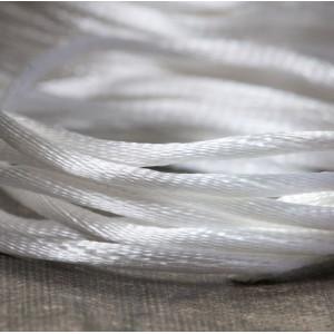 Атласный шнур для кумихимо, белый, 2 мм...