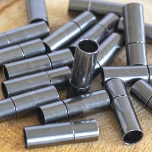 Застежка для украшений, цвет - черный, 18х6 мм...