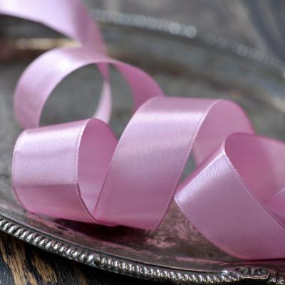 Лента, атлас, цвет розовато-сиреневый, ширина 25 мм