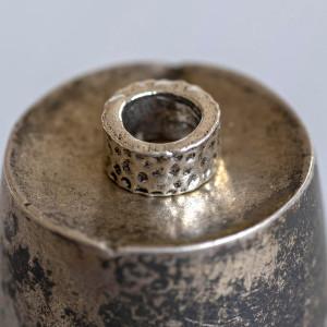 Бусина-тоннель металлическая, античное серебро, 9,5х6.5...