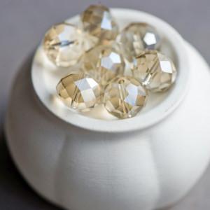 Бусины стекл. фацет. абакус.имит драг.камни. крист-золо...