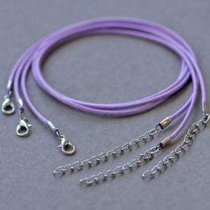 Основа для ожерелья, вощеный шнур, сиреневый, 450х2 мм...