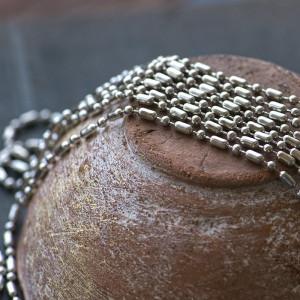 Цепочка для бижутерии, цв. платина, шарик 2.5 мм...