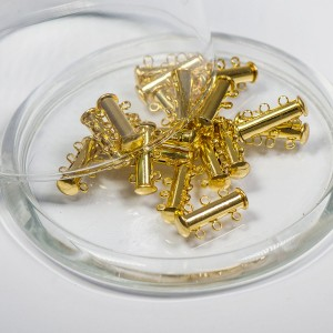 Застежка для украшений многорядная, цвет - золото, 21x1...