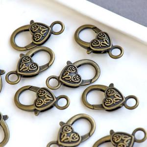 Замочек-лобстер в тибетском стиле, античная бронза, 26х...