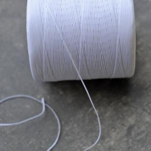 Плоский вощеный шнур синт., цвет белый с серым оттенком...