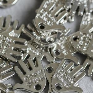 Подвеска металлическая,  цв. серебро, 12,5x12,5x2 мм...