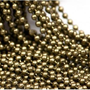 Цепочка для бижутерии, античная бронза, шарик 2 мм...