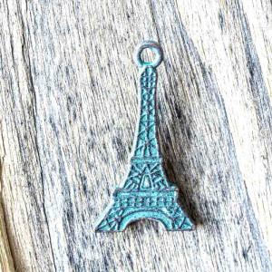 Подвеска металлическая в форме Эйфелевой башни, антична...