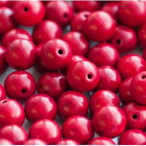 Бусина говлит синтетический, круглая, цвет красный, 10 ...