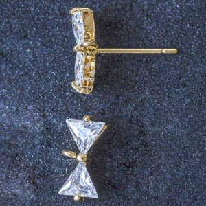 Пуссеты (основы для сережек), покрытие Real Gold Plated...