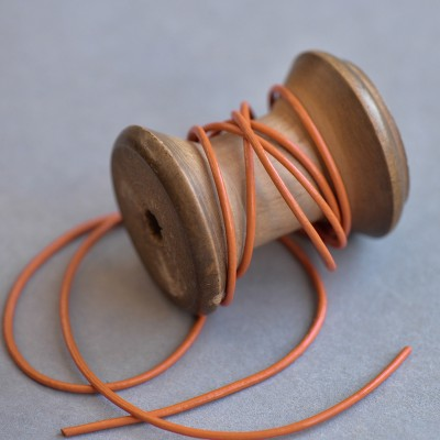 Шнур кожаный, цвет медный, диаметр 1.5 мм