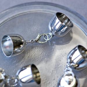 Концевик для бисерного жгута с замком, платина,17.5x16 ...