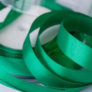 Лента атласная, цвет травяной зеленый, 15 мм...