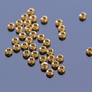 Бусина-разделитель в форме абакуса, цвет золото, 3x2 мм...