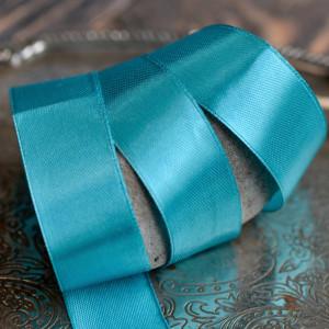 Лента, атлас, цвет яркий бирюзовый, ширина 25 мм...