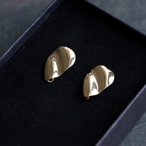 Пуссеты-гвоздики, покрытие Real Gold Plated, 19.5x13 мм...
