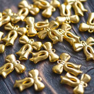 Подвеска, пластик, цв. золото, 29,5x26x5,5 мм...