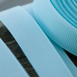 Репсовая лента, голубой, ширина 20 мм...