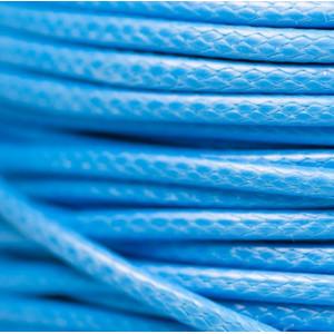 Шнур вощеный синт., голубой, 2 мм...