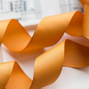 Репсовая лента, желтый, ширина 25 мм...